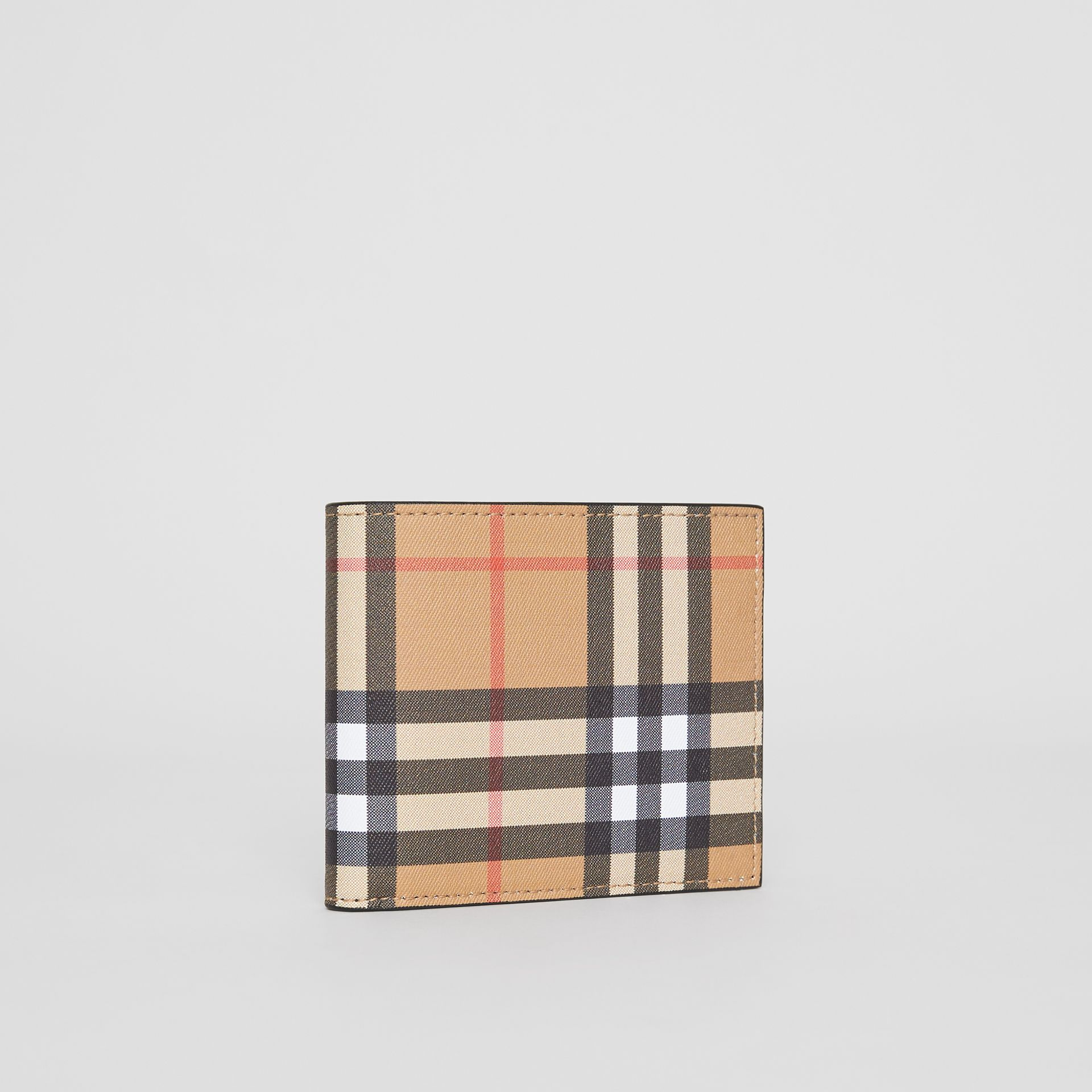 Vintage Check International Bifold Wallet in Black - Men | Burberry Australia - gallery image 4