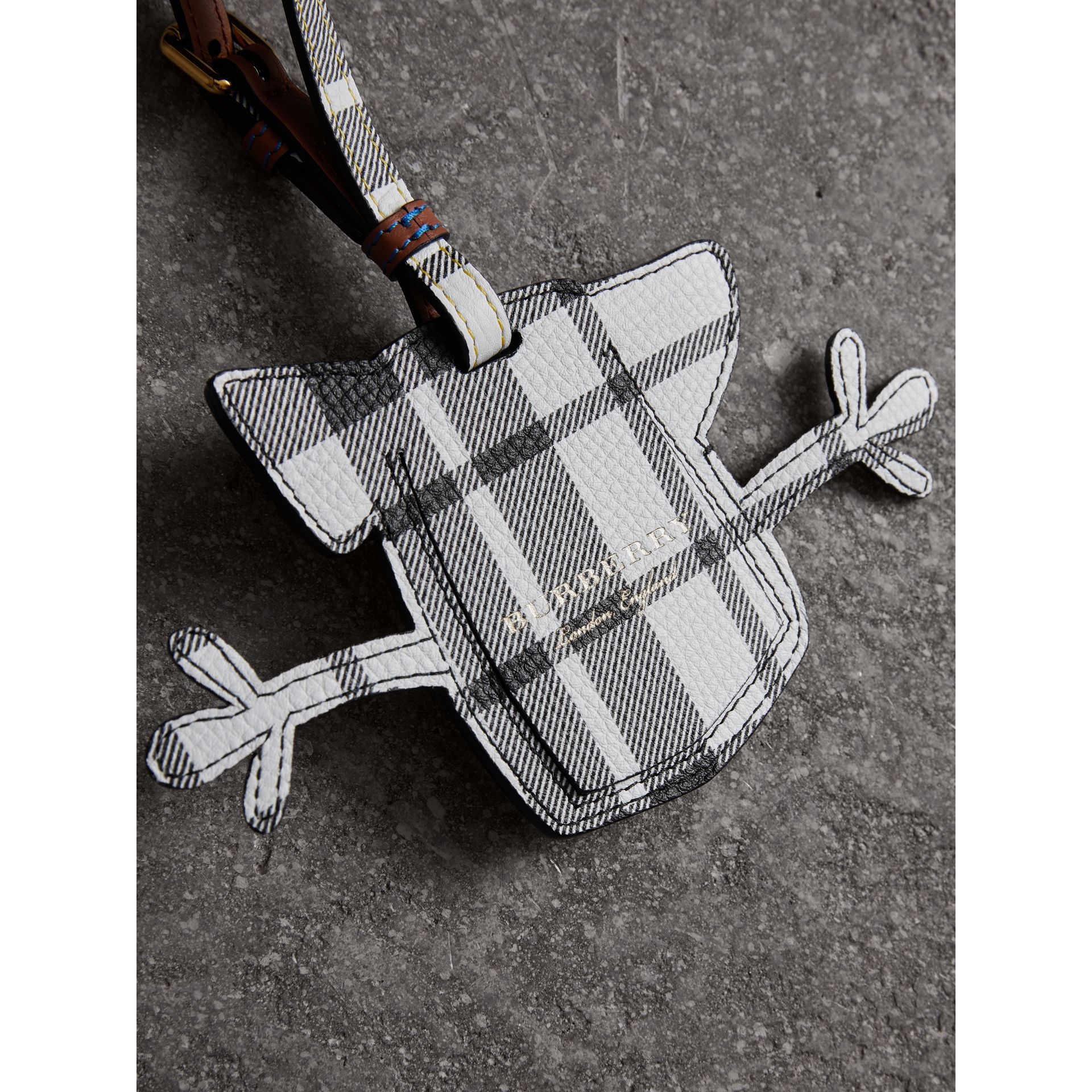 Creature Appliqué Leather Trim Luggage Tag in Racing Green | Burberry - gallery image 3