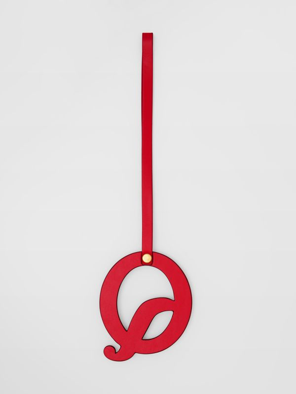 'Q' Studded Leather Alphabet Charm in Red/light Gold - Women | Burberry - cell image 2