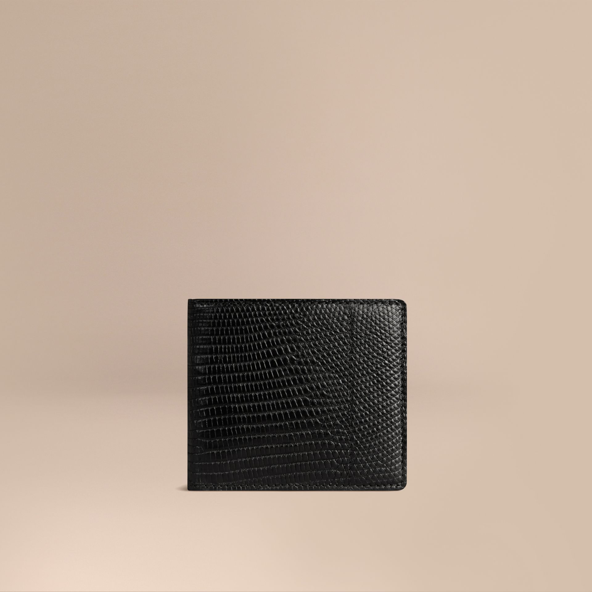 Black Lizard Folding Wallet - gallery image 1