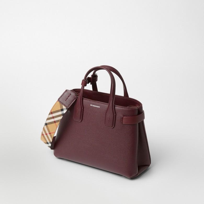 Burberry - Petit sac TheBanner en cuir avec Vintage check - 7
