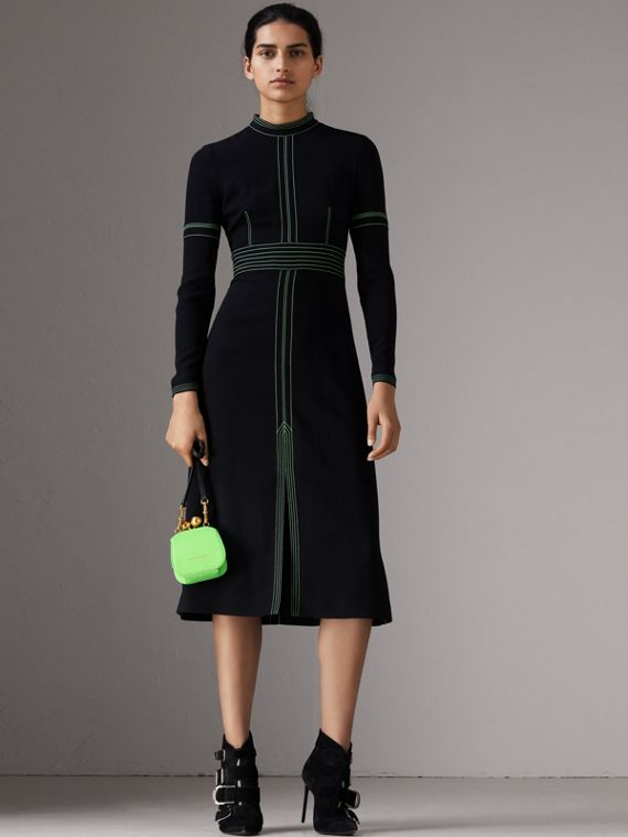 Mini Two-tone Lizard Metal Frame Clutch Bag in Neon Green - Women | Burberry - cell image 2