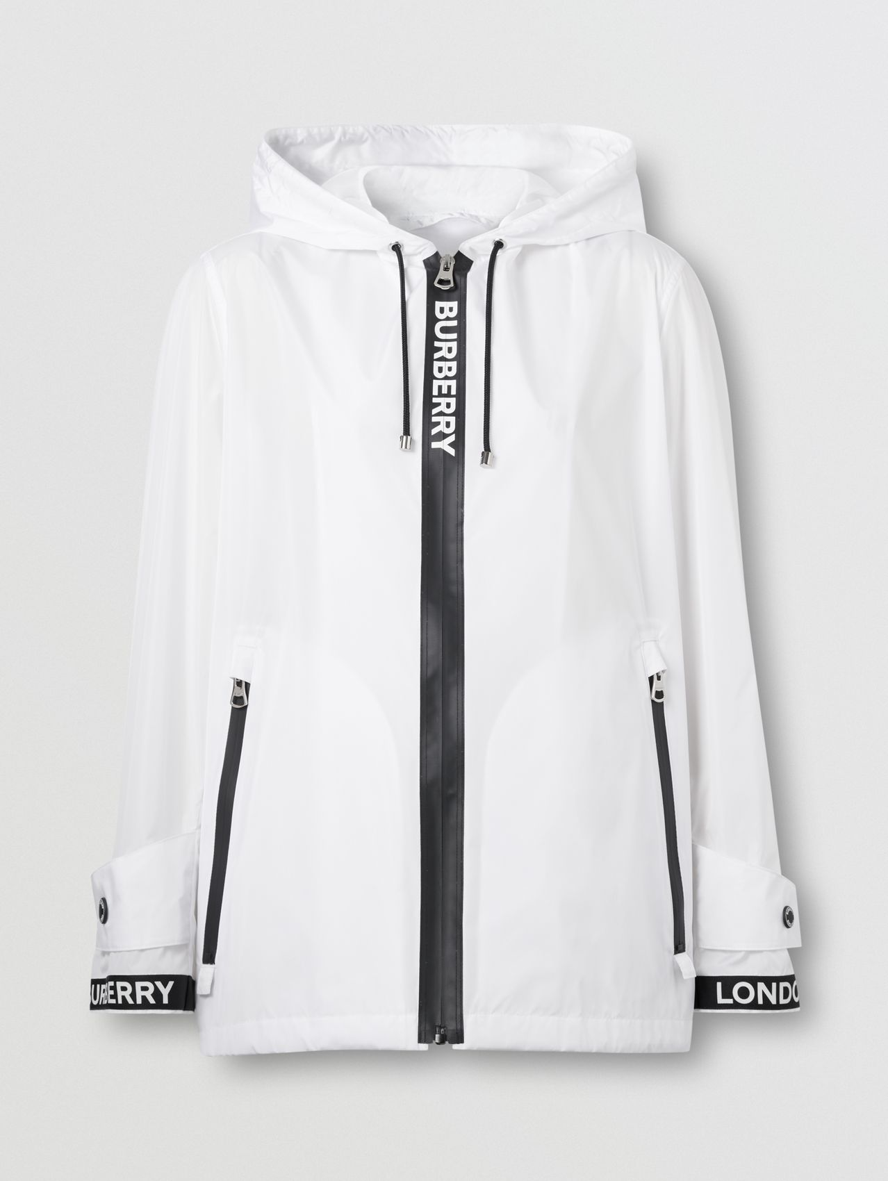 Logo Tape ECONYL® Hooded Jacket (Optic White)