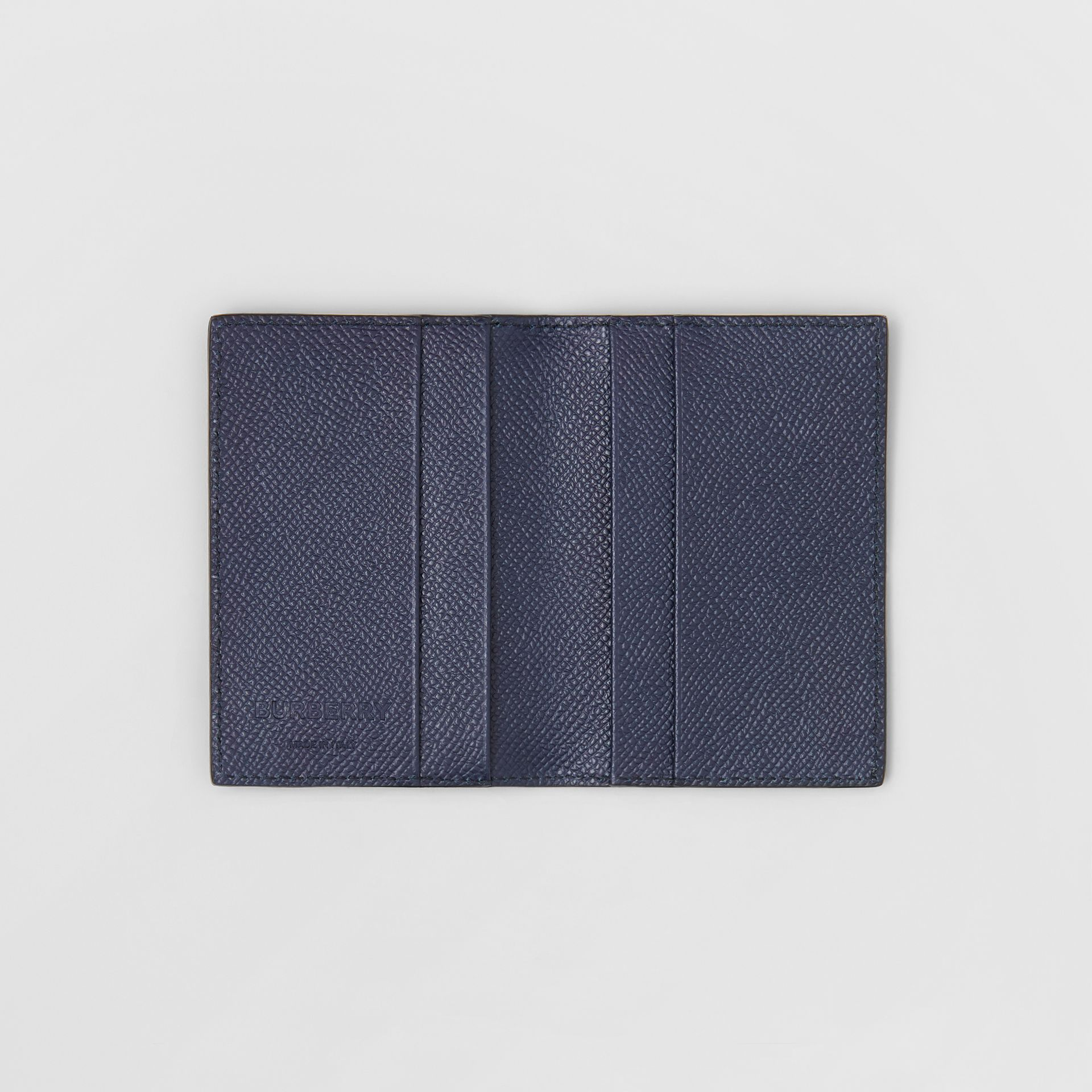 Grainy Leather Bifold Card Case in Regency Blue - Men | Burberry Singapore - gallery image 2