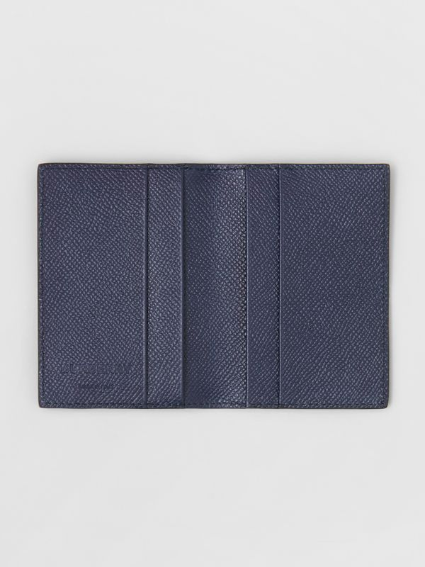 Grainy Leather Bifold Card Case in Regency Blue - Men | Burberry Hong Kong S.A.R - cell image 2