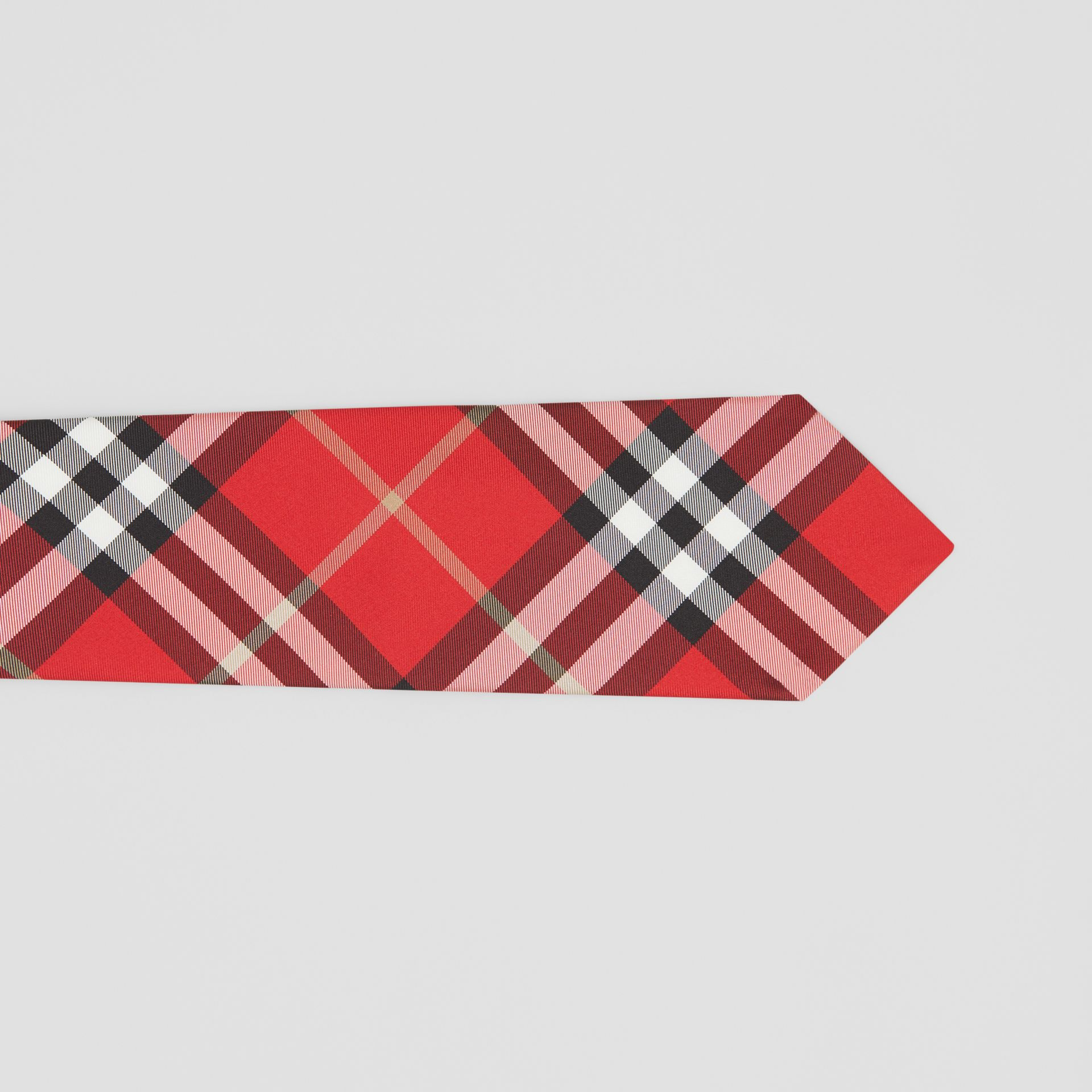 Classic Cut Vintage Check Silk Tie in Red - Men | Burberry - gallery image 1