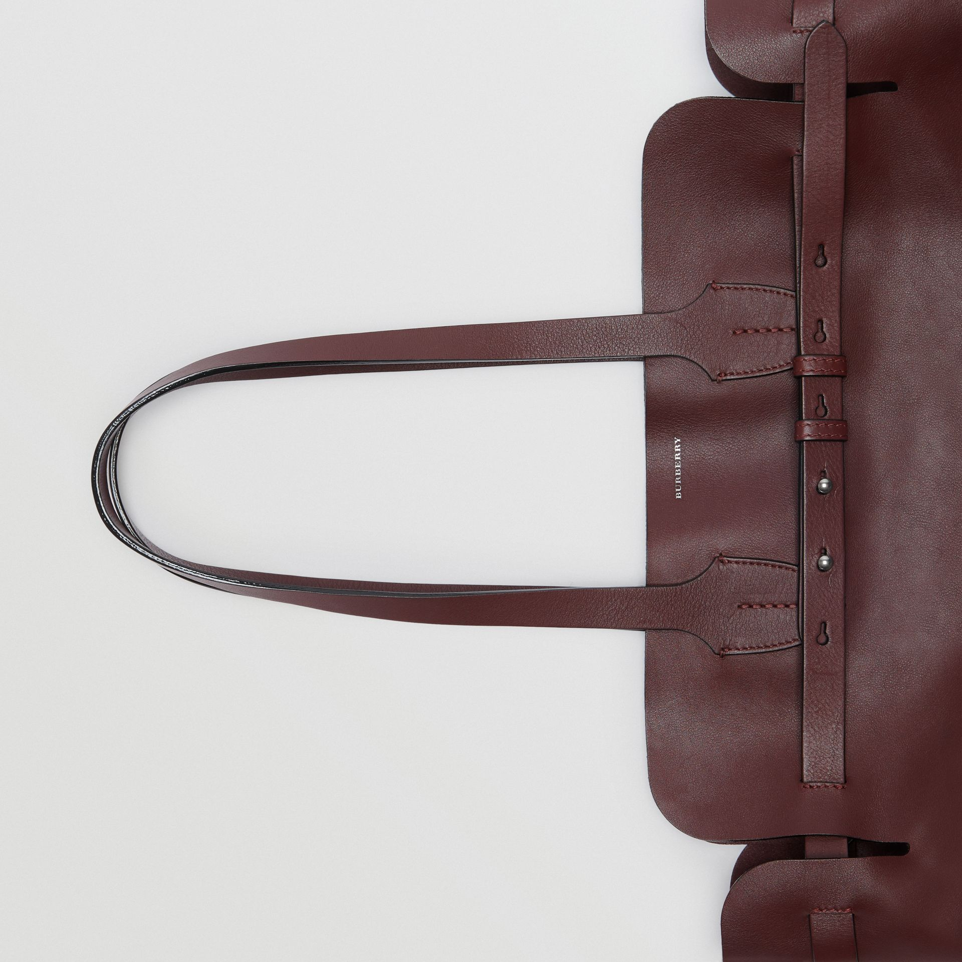 The Medium Soft Leather Belt Bag in Deep Claret - Women | Burberry United Kingdom - gallery image 1