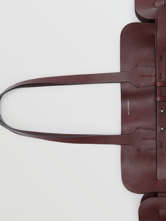 The Medium Soft Leather Belt Bag in Deep Claret - Women | Burberry Hong Kong - cell image 1