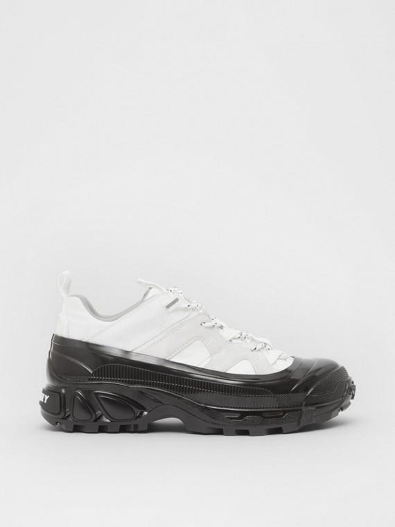 Zapatillas deportivas Arthur en nailon y ante (Blanco)