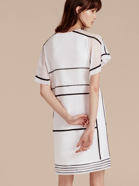 White Fil Coupé and Lace-trimmed Shift Dress - cell image 2