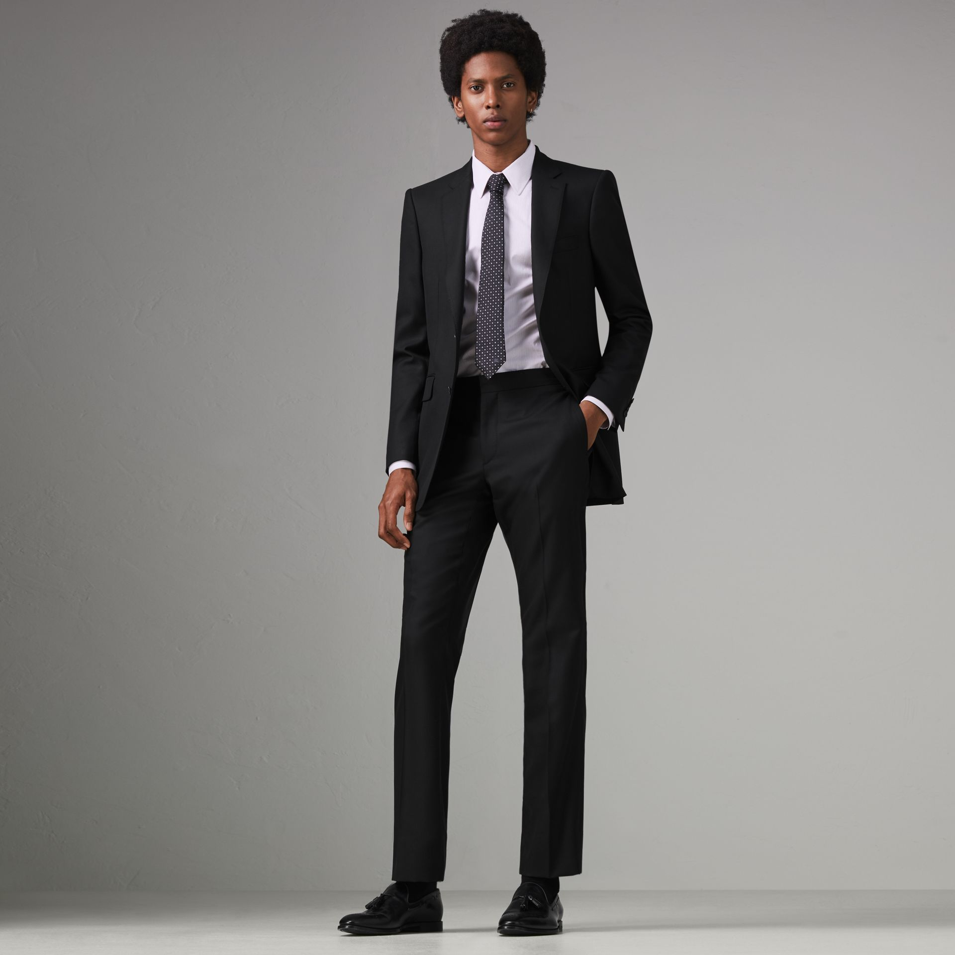 Classic Fit Wool Twill Suit in Black - Men | Burberry Singapore - gallery image 0