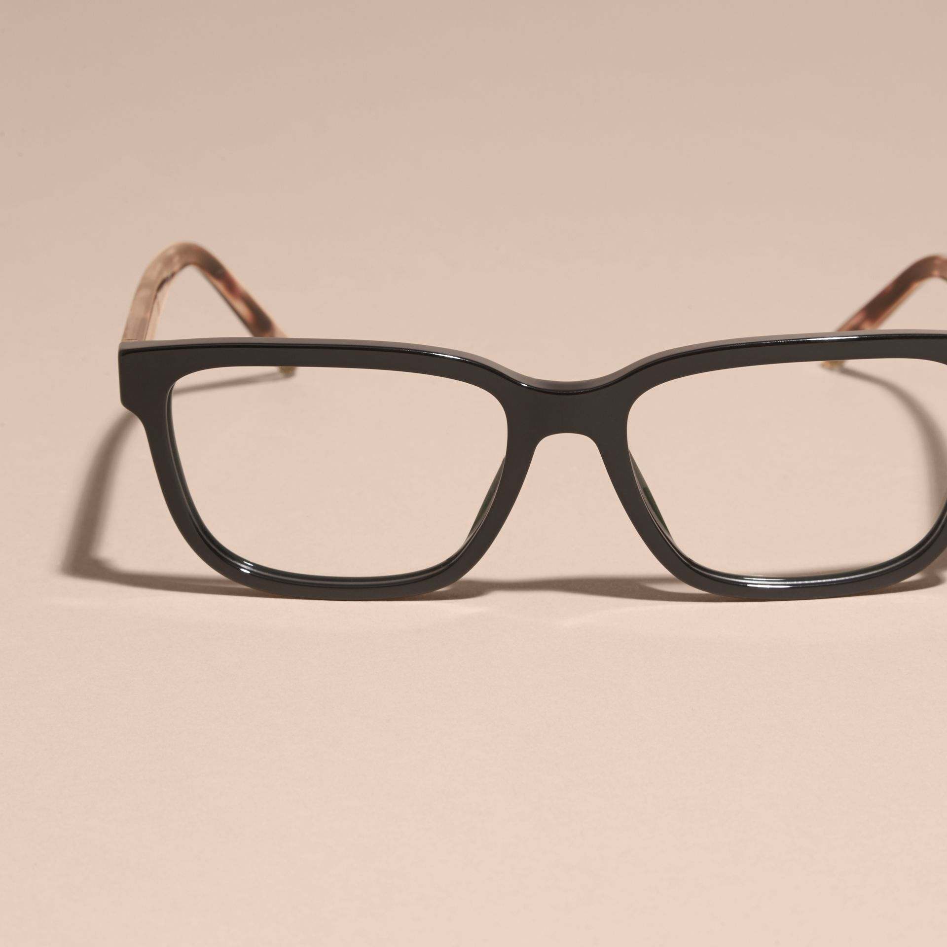 Check Detail Rectangular Optical Frames in Black - gallery image 3