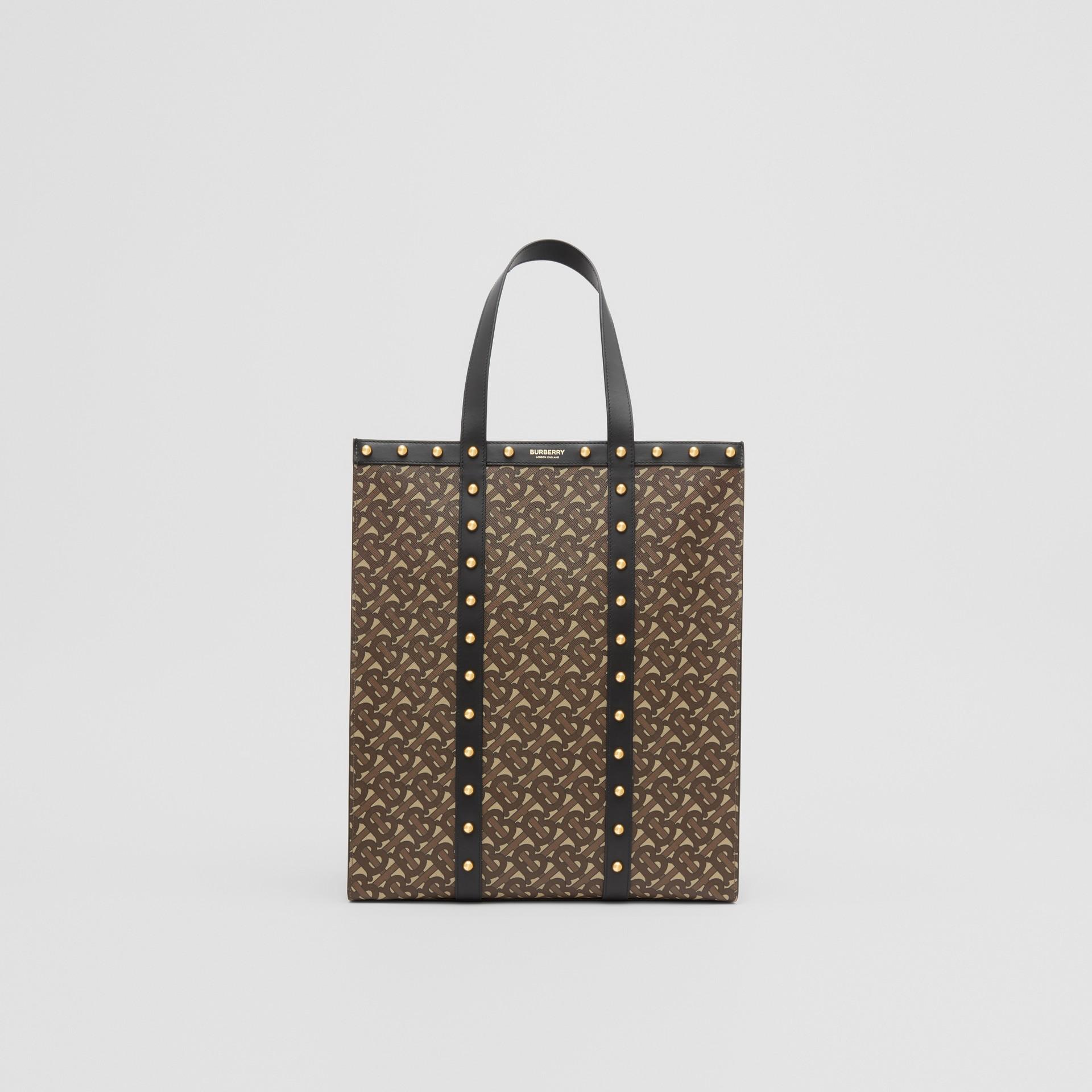 Bolsa Tote em lona ecológica com retrato e estampa de monograma (Preto) | Burberry - galeria de imagens 0