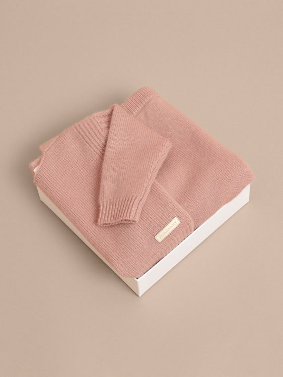 Cashmere Two-piece Baby Gift Set in Dusty Pink | Burberry Singapore - cell image 3