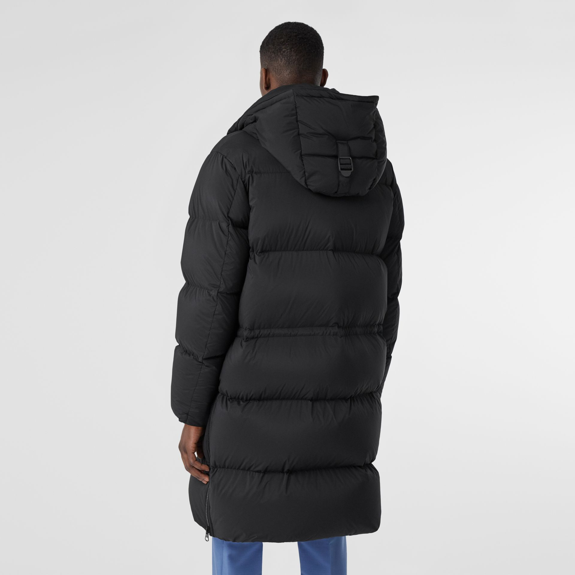 Detachable Hood Stretch Nylon Puffer Coat in Black - Men | Burberry United Kingdom - gallery image 2
