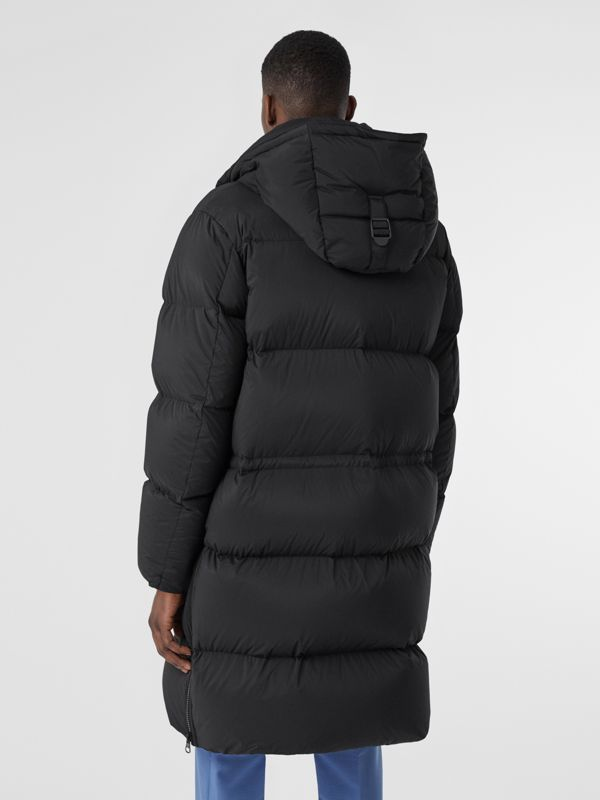 Detachable Hood Stretch Nylon Puffer Coat in Black - Men | Burberry United Kingdom - cell image 2