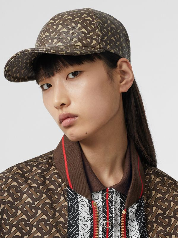 Monogram Print Baseball Cap in Bridle Brown | Burberry United Kingdom - cell image 2