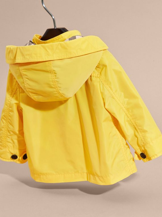 Bright yellow Hooded Technical Jacket Bright Yellow - cell image 3
