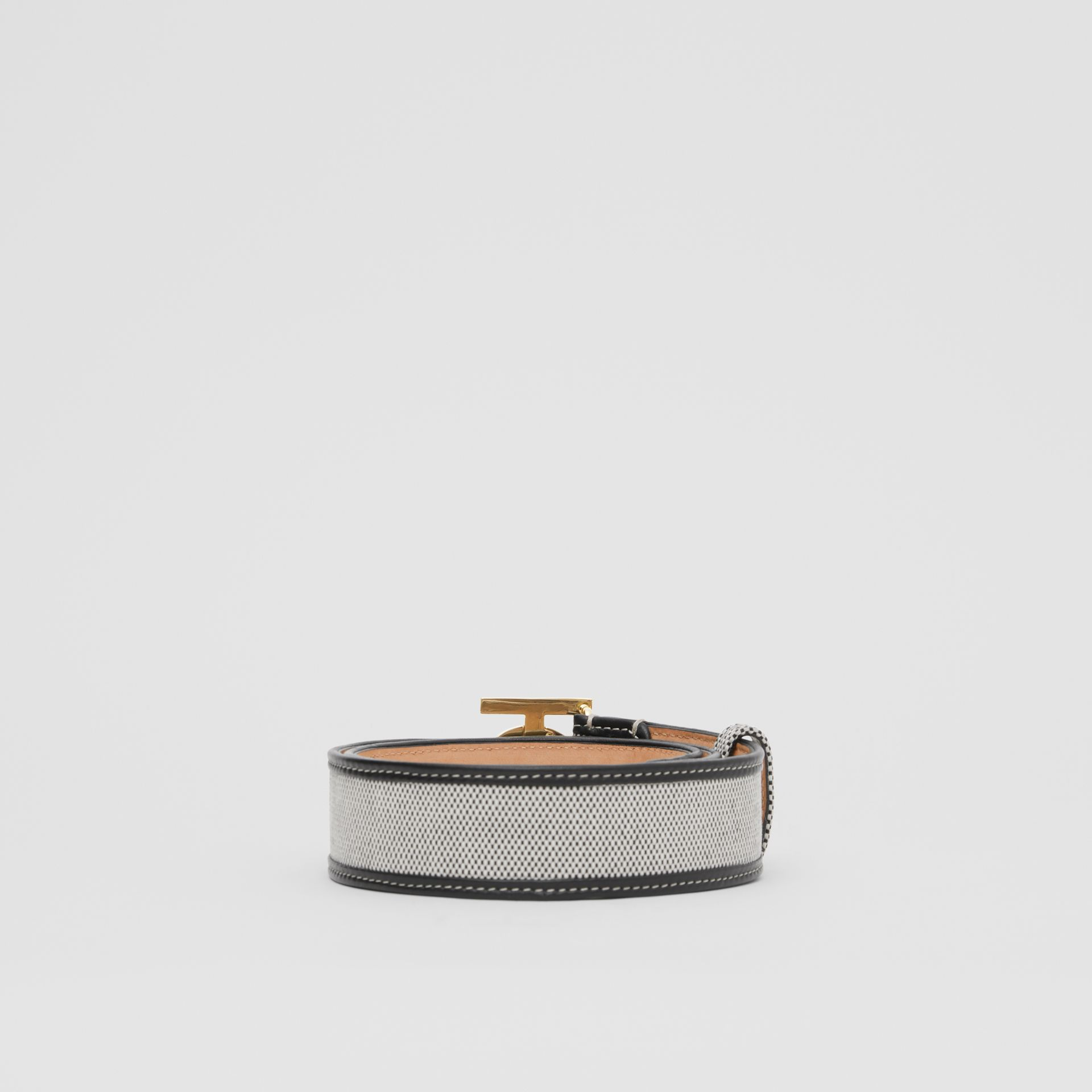Monogram Motif Canvas and Leather Belt in Black - Women | Burberry United Kingdom - gallery image 4