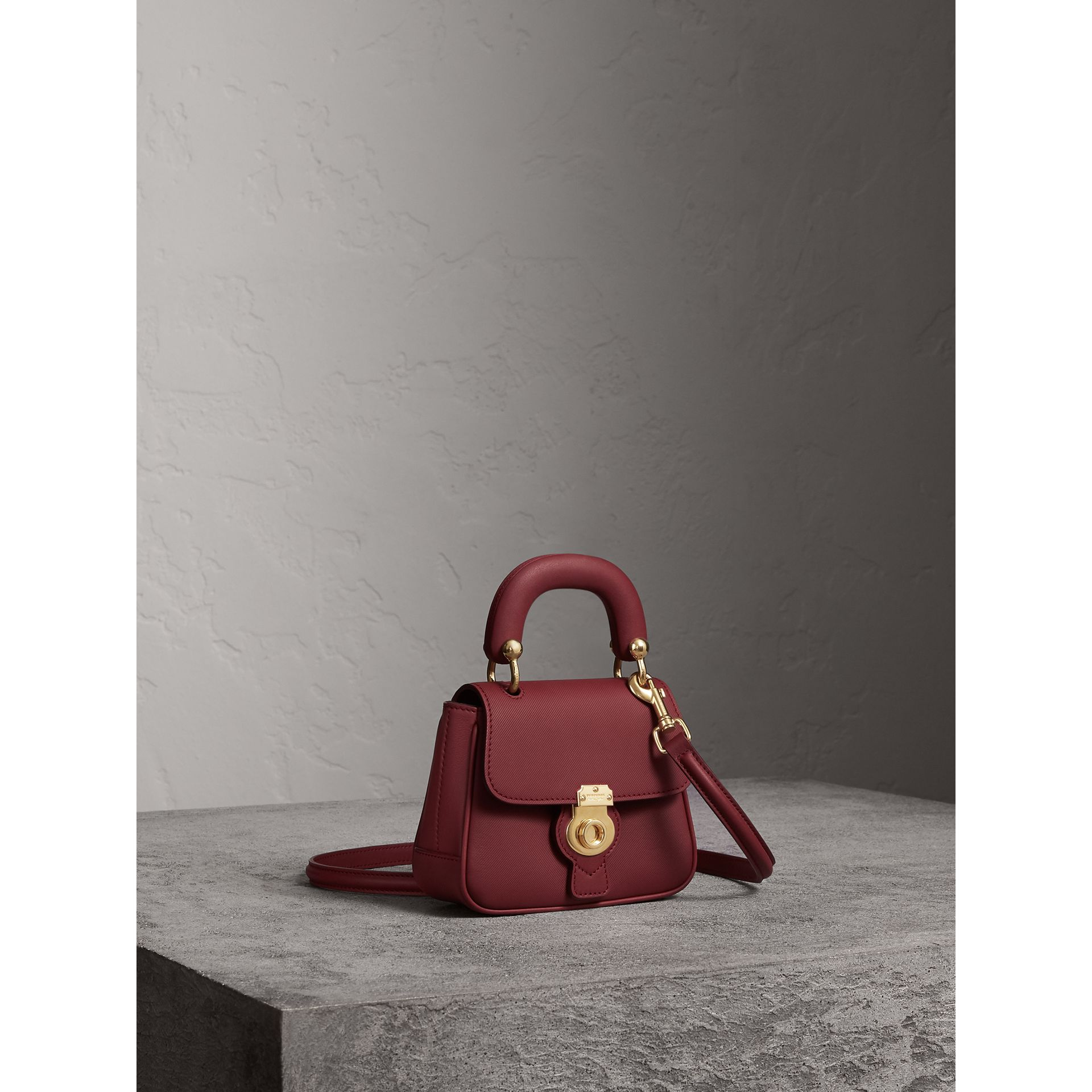 The Mini DK88 Top Handle Bag in Antique Red - Women | Burberry - gallery image 7