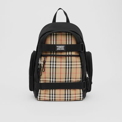 Large Vintage Check Panel Nevis Backpack by Burberry