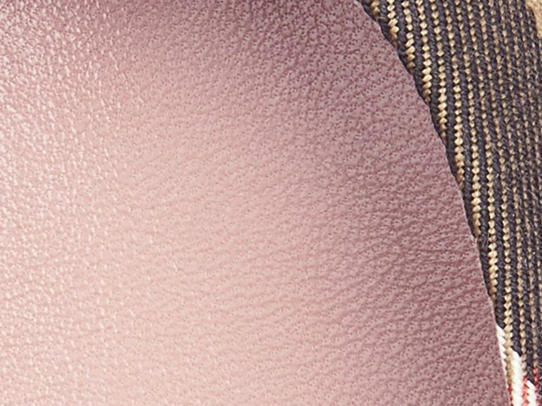 Belt Detail House Check Ballerinas in Nude Blush - Women | Burberry Singapore - cell image 1