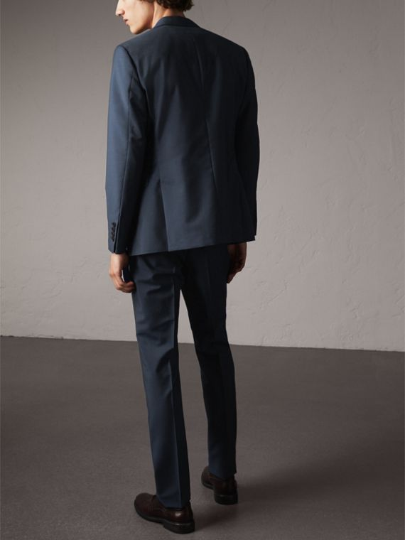 Soho Fit Wool Mohair Suit in Petrol Blue - Men | Burberry - cell image 2