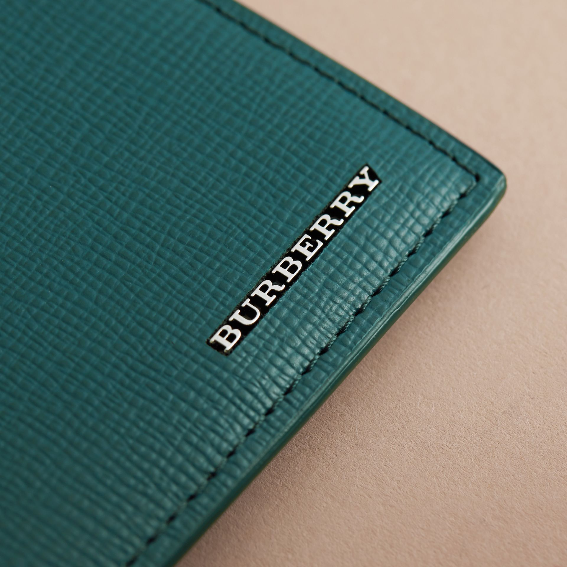 London Leather International Bifold Wallet Dark Teal - gallery image 5
