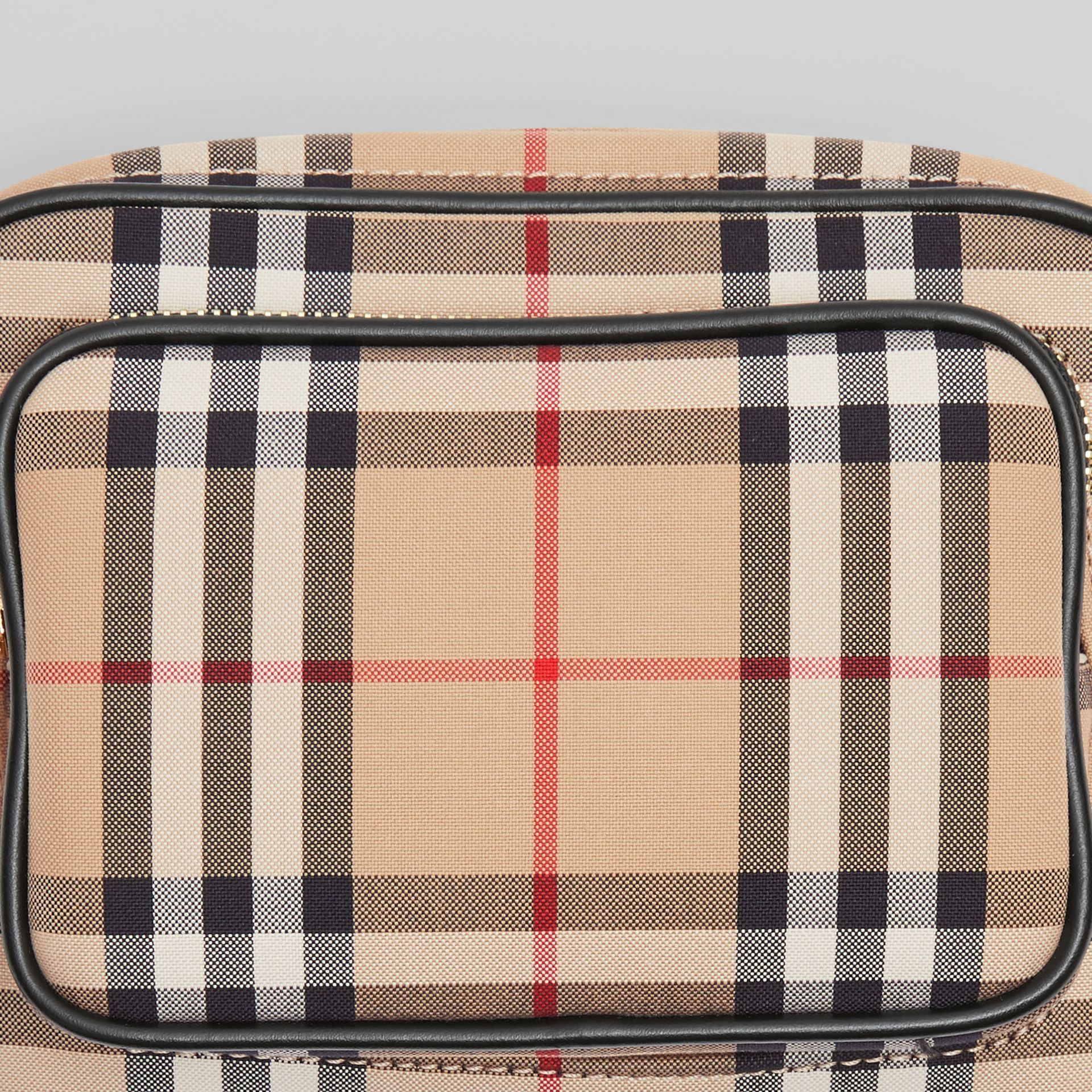 Vintage Check Cotton Camera Bag in Archive Beige | Burberry Singapore - gallery image 1