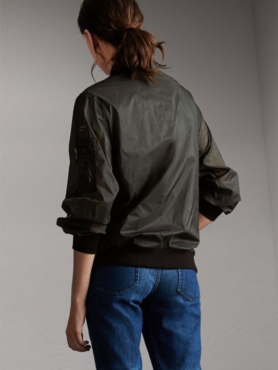 Lightweight Bomber Jacket in Vintage Green - Women | Burberry - cell image 2