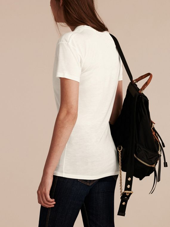 Natural white Scoop Neck Lyocell T-shirt Natural White - cell image 2