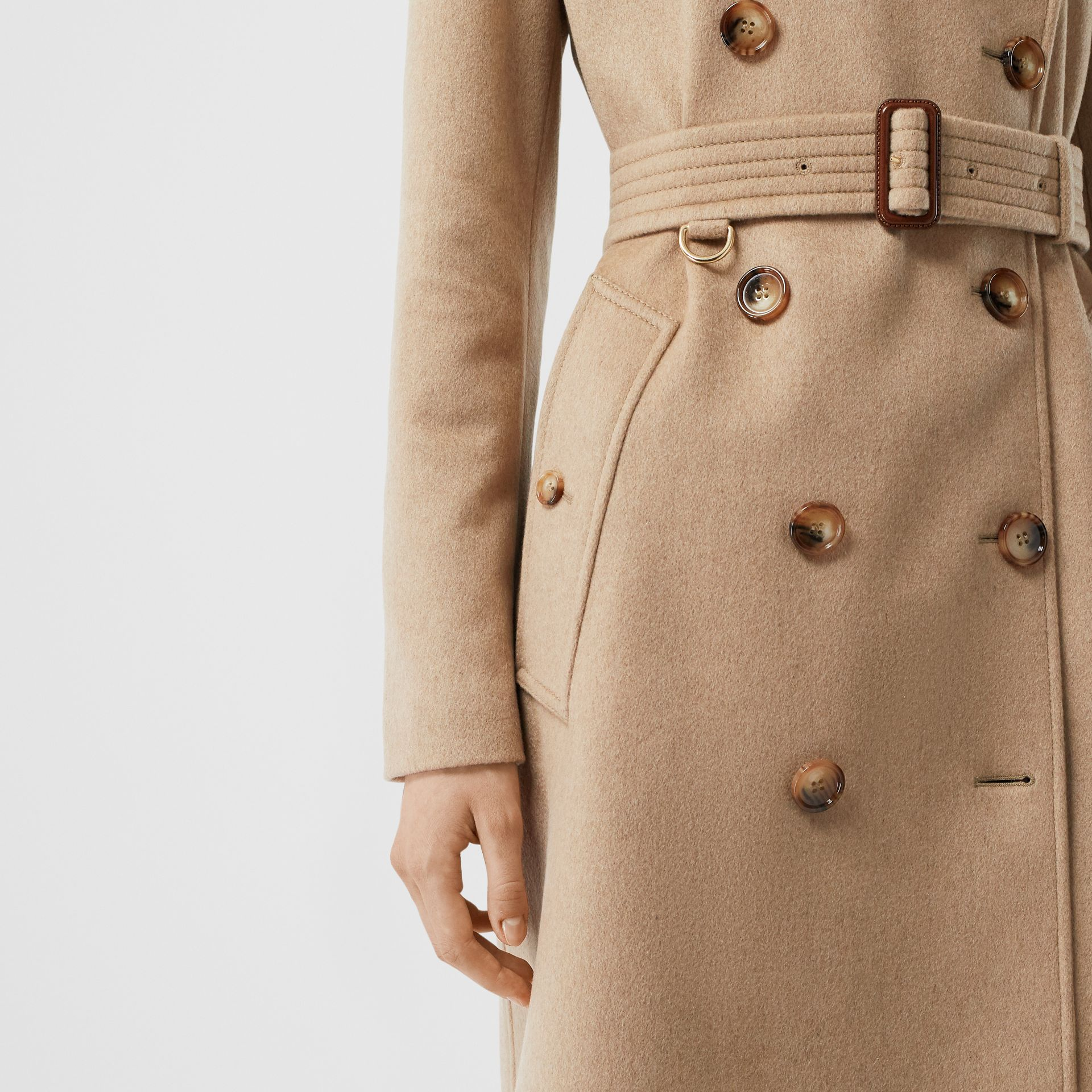 Cashmere Trench Coat in Camel - Women | Burberry Australia - gallery image 5