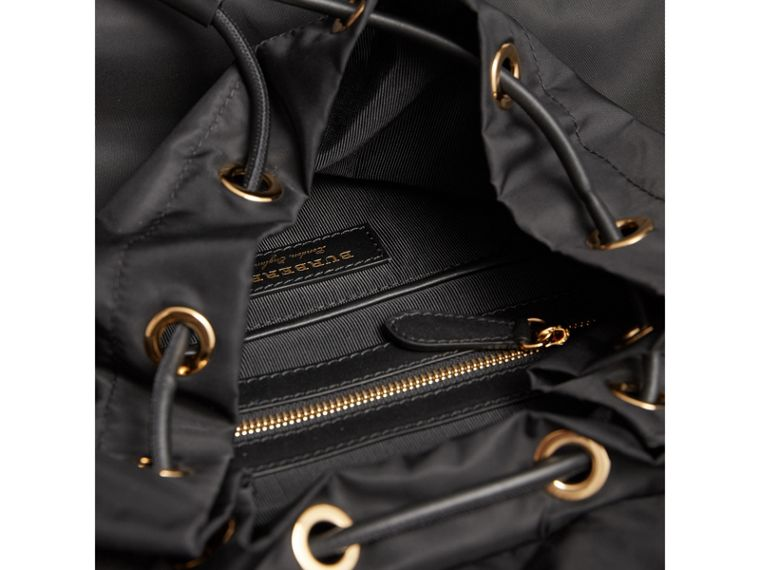 The Large Rucksack in Technical Nylon and Leather in Black - Women | Burberry Australia - cell image 4