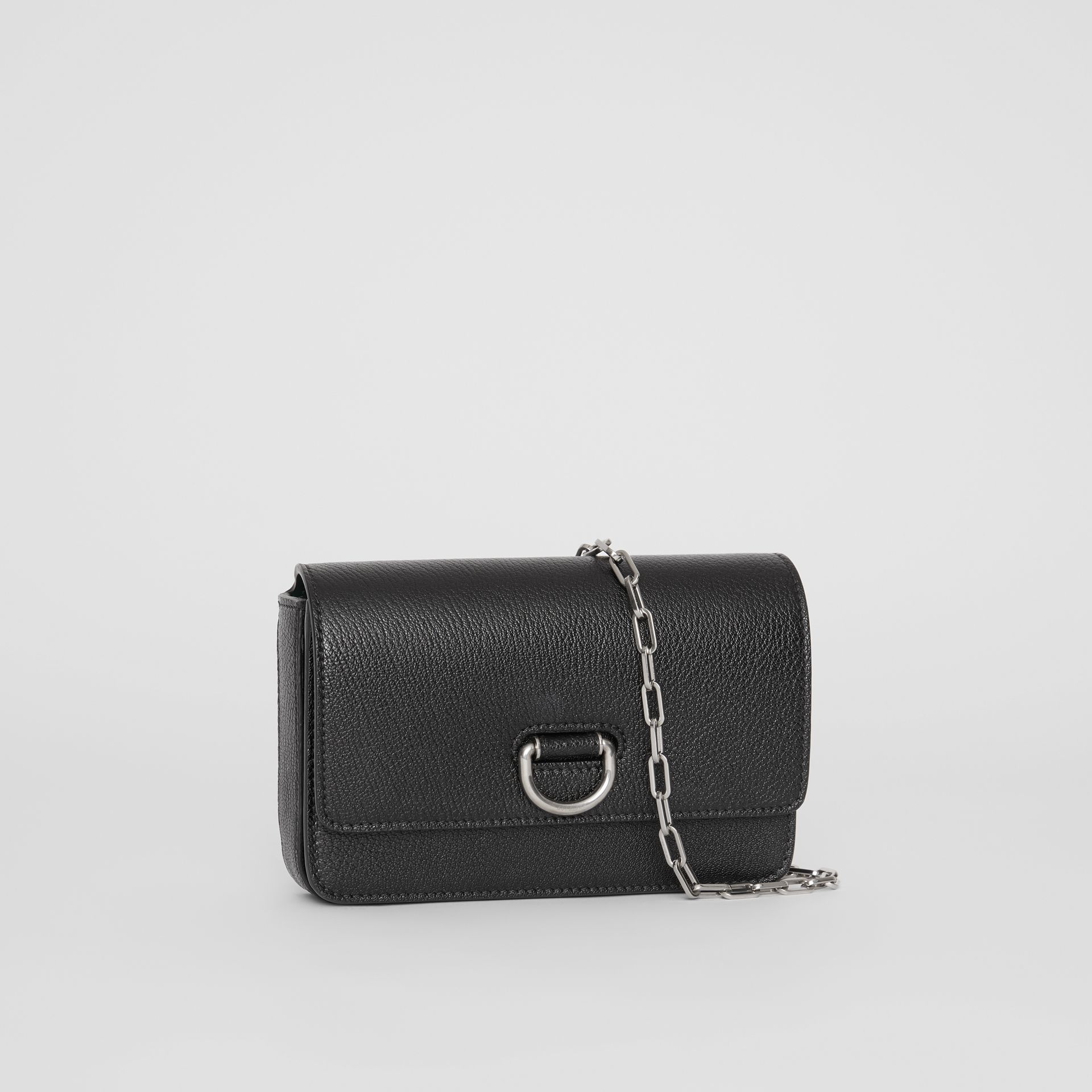 The Mini Leather D-ring Bag in Black - Women | Burberry - gallery image 4