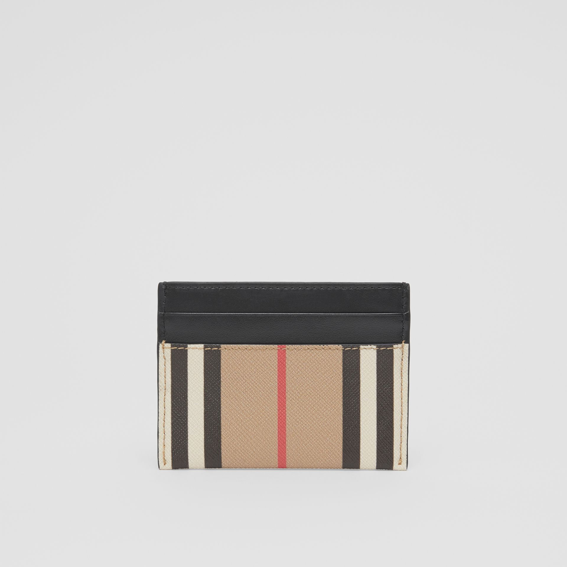 Icon Stripe E-canvas and Leather Card Case in Archive Beige - Women   Burberry United Kingdom - gallery image 4