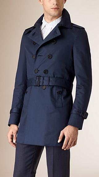 Trench coat in cotone e seta