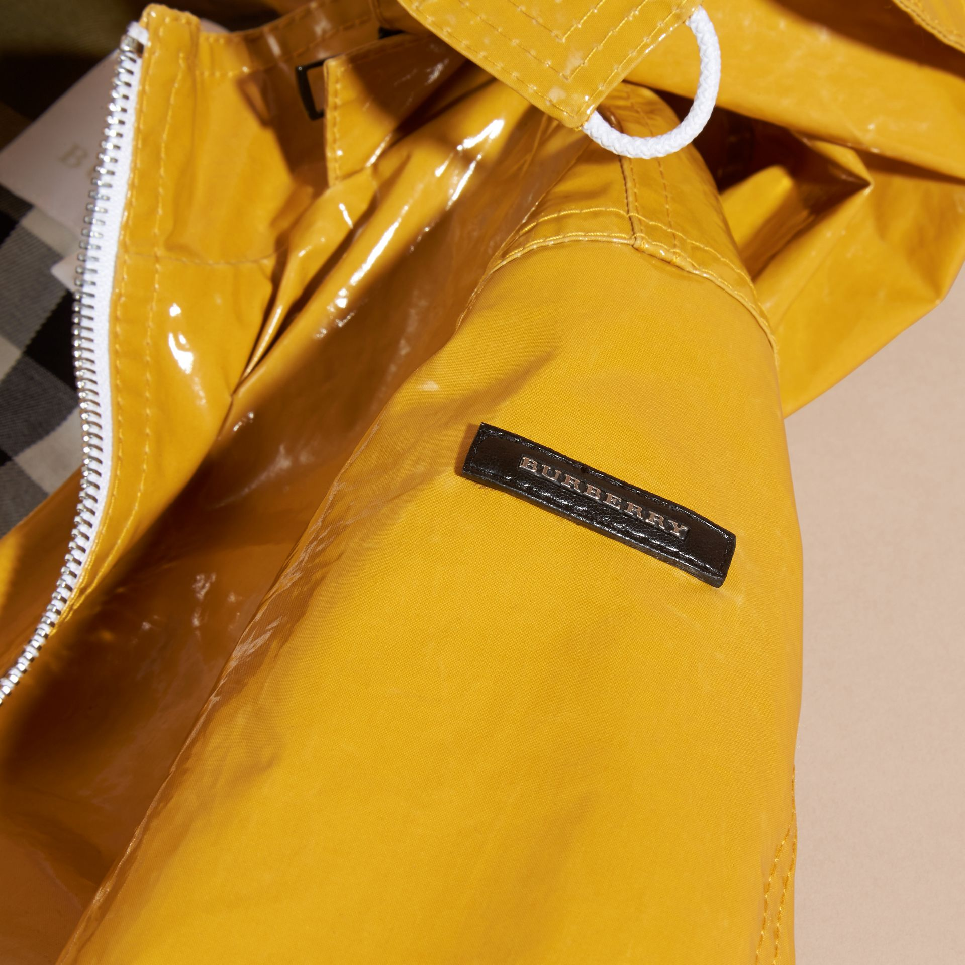 Glossy Showerproof Jacket with Detachable Hood - gallery image 2