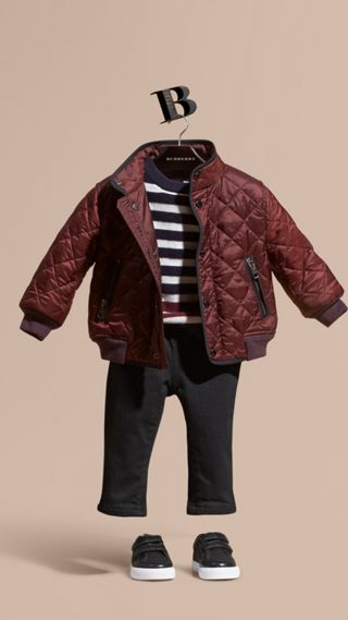 Lightweight Quilted Bomber Jacket