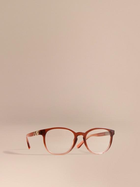 Monture ronde pour lunettes de vue avec motif check