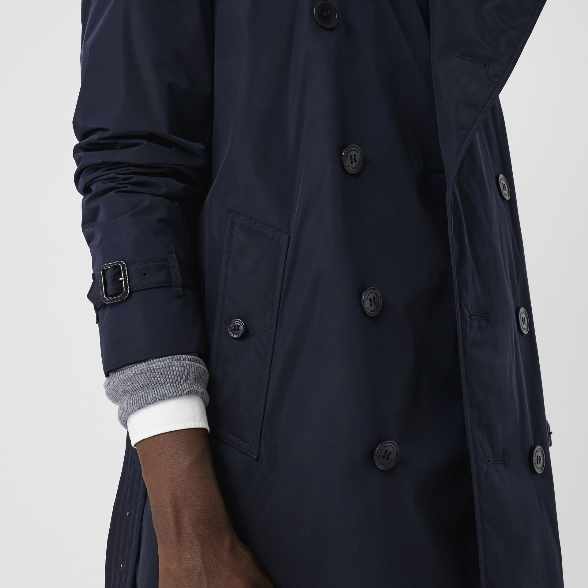 Quilt-lined Nylon Trench Coat in Ink - Men | Burberry - gallery image 4