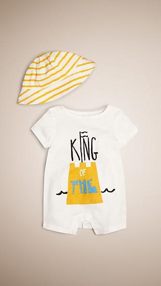 Conjunto de regalo para bebé de dos piezas en algodón