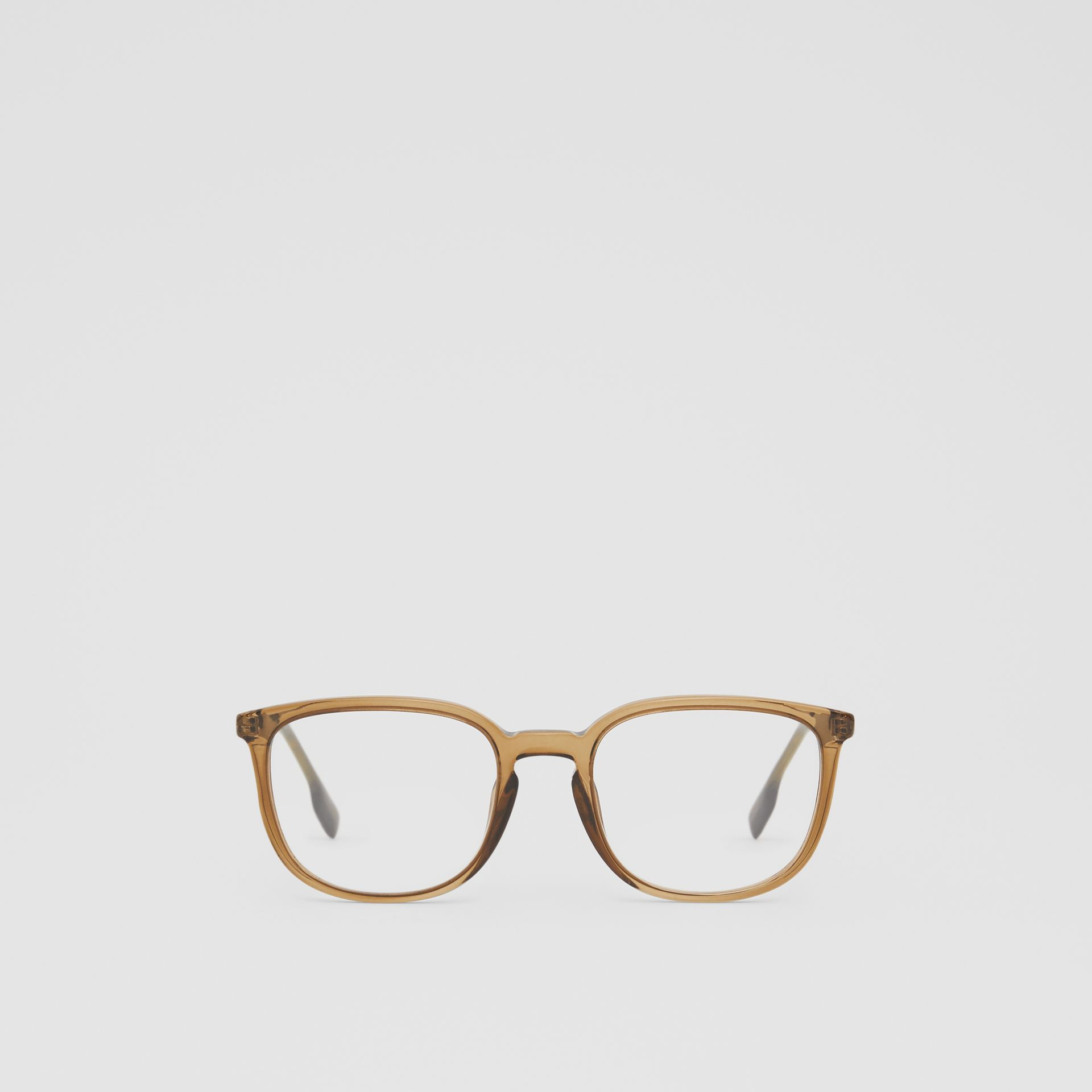 Square Optical Frames in Olive Green | Burberry - gallery image 0
