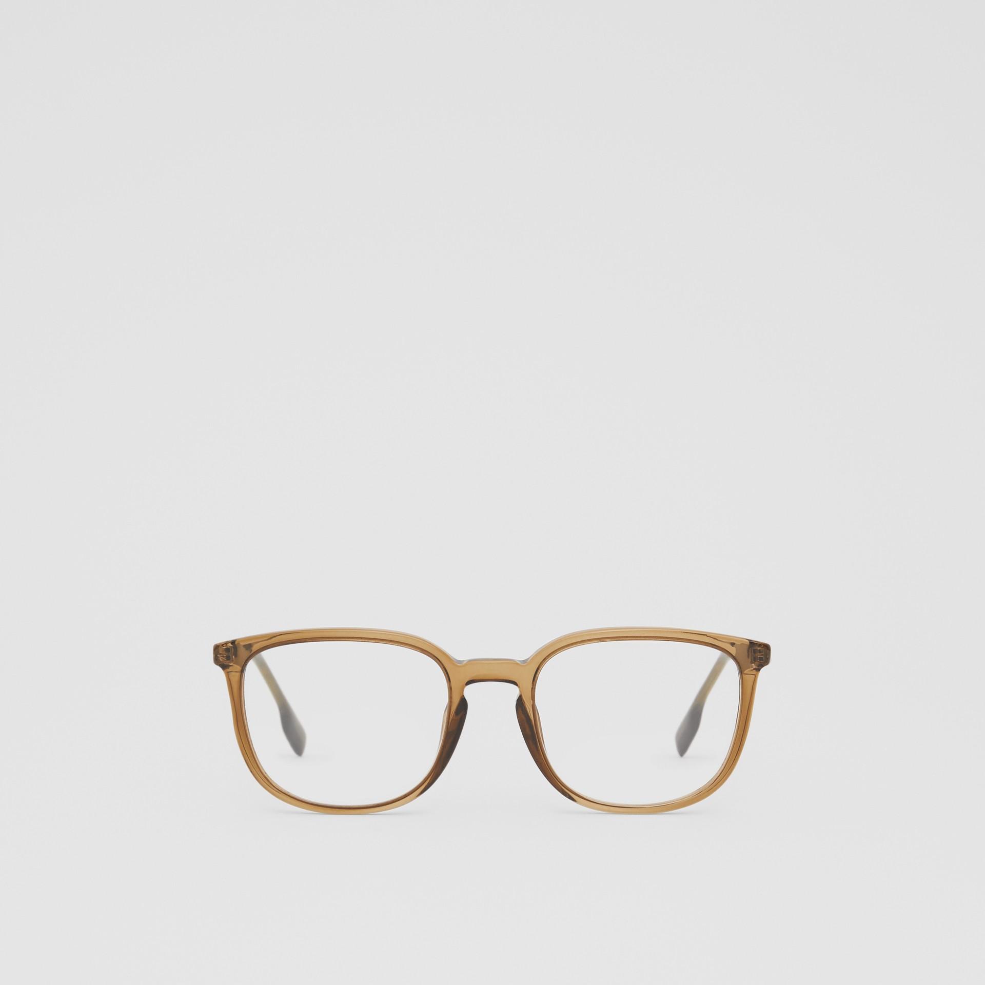 Brille mit eckigem Gestell (Olivfarben) | Burberry - Galerie-Bild 0