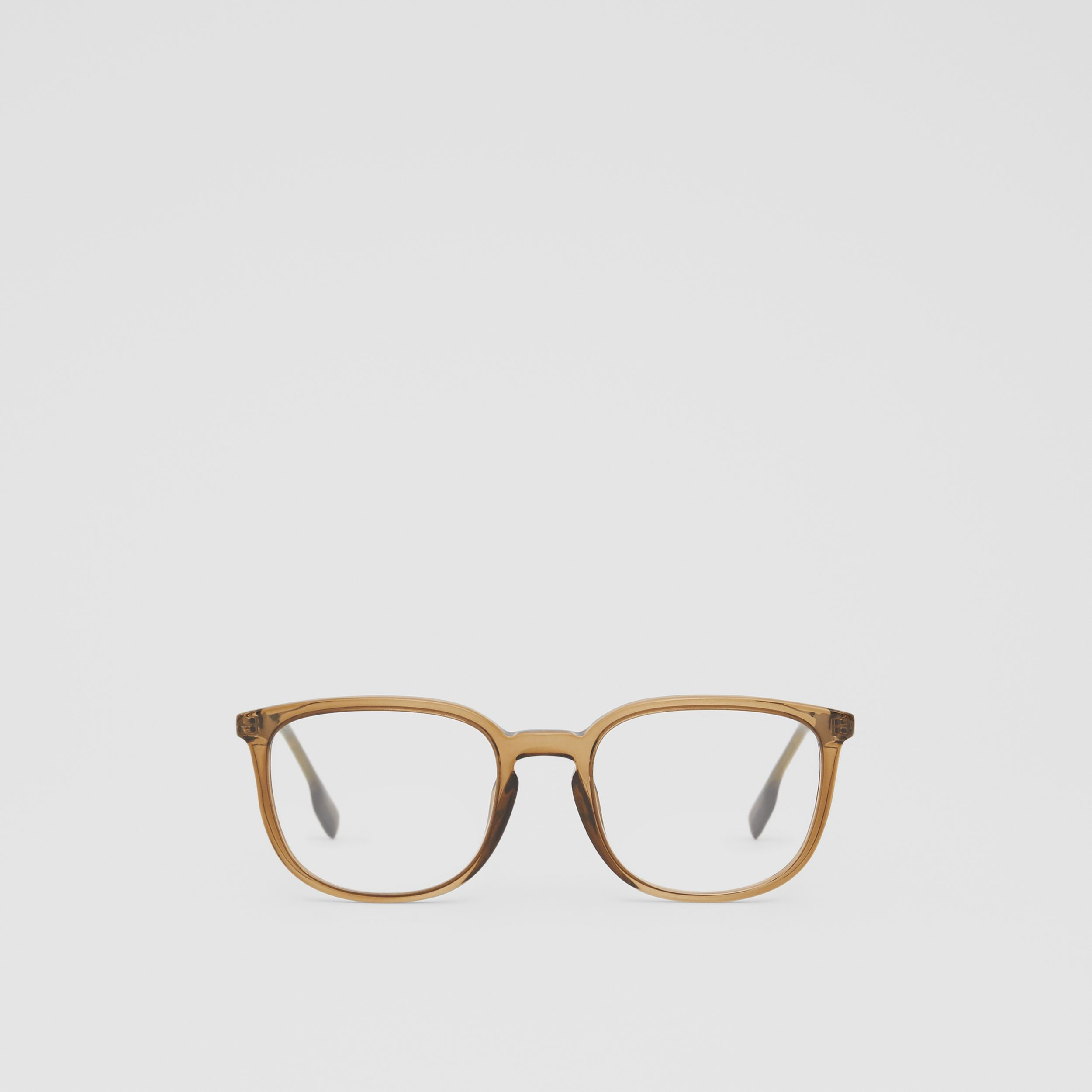 Square Optical Frames in Olive Green | Burberry - 1