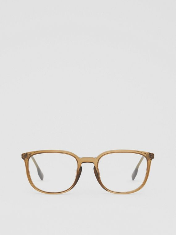 Square Optical Frames in Olive Green