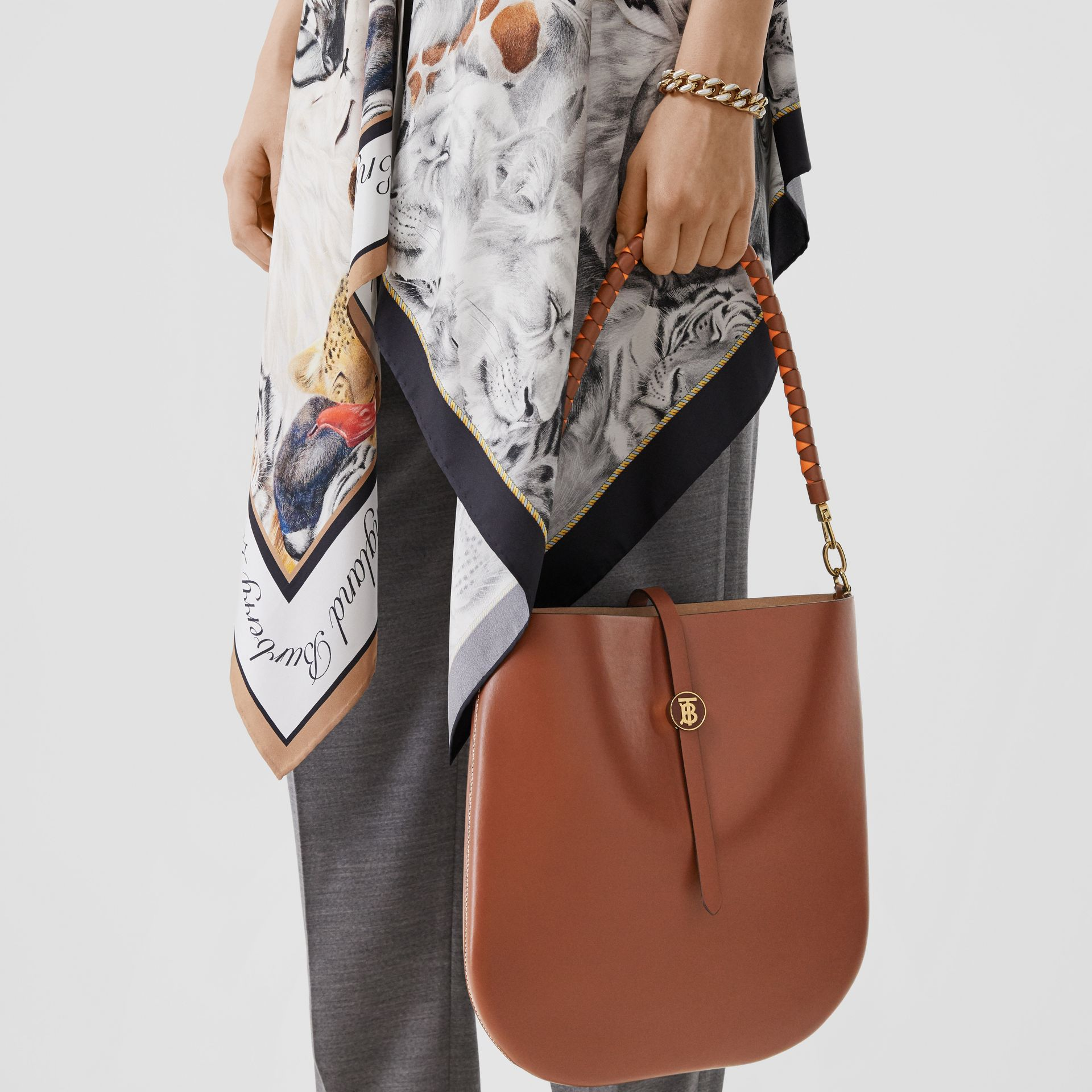 Leather Anne Bag in Tan - Women | Burberry - gallery image 2