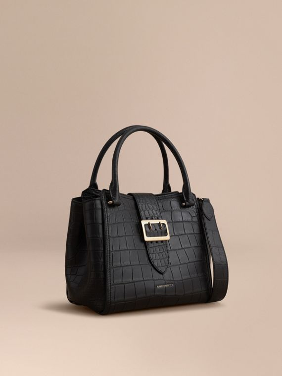 The Medium Buckle Tote in Alligator - Women | Burberry