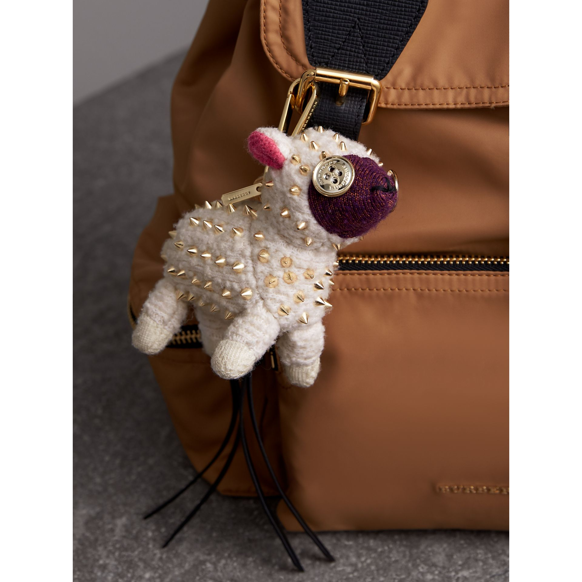 Wendy The Sheep Cashmere Charm in White | Burberry - gallery image 3