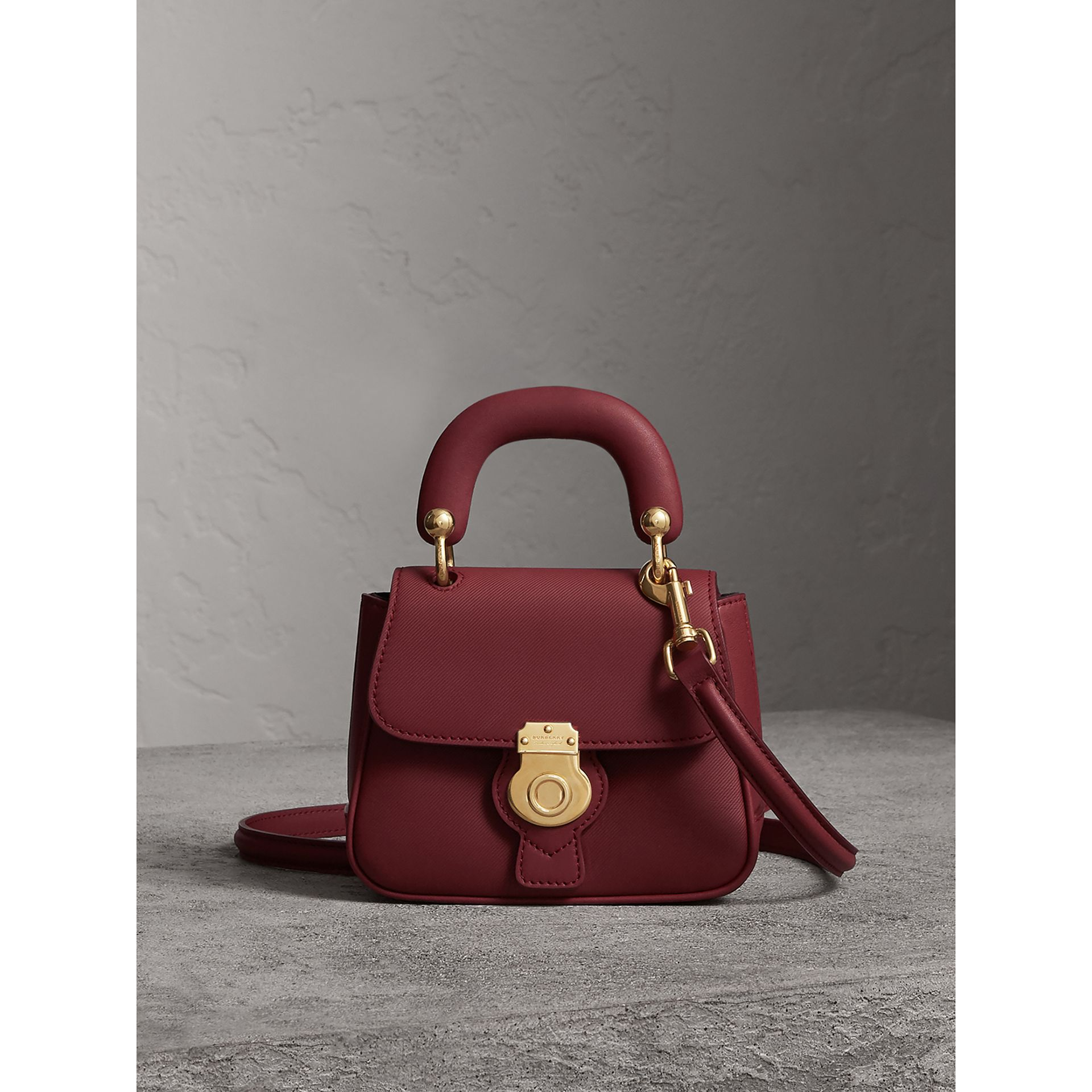 The Mini DK88 Top Handle Bag in Antique Red - Women | Burberry - gallery image 0