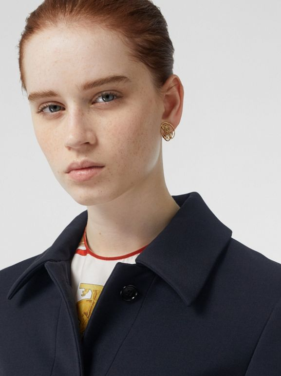 Double-faced Wool Cashmere Blend Coat in Navy - Women | Burberry United States - cell image 1